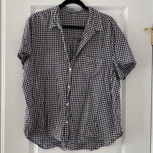 Aerie Checkered button up shirt